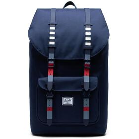 Herschel Little America Backpack malibu stripe peacoat